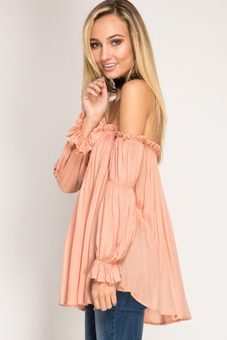 Apricot Off Shoulder