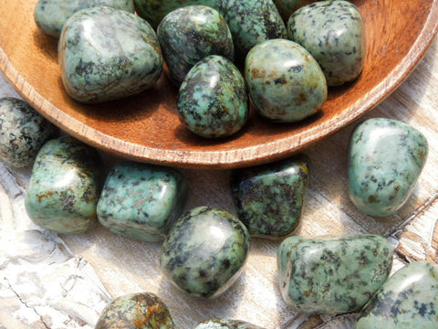 African Turquoise Tumbled Healing Stones