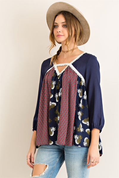 Peasant Pineapple Blouse