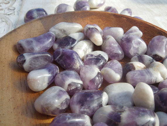 Tumbled Cheveron Amethyst