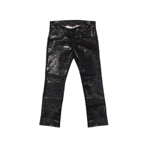 CROCODILE PATENT LEATHER JEANS