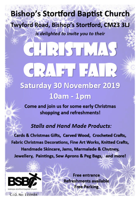 Christmas Craft Fair - BSBC