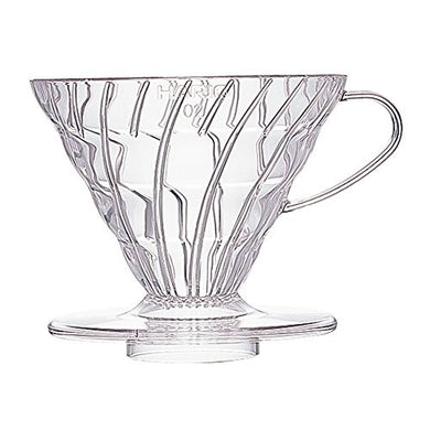 Hario V60 Plastic Coffee Dripper Clear 02
