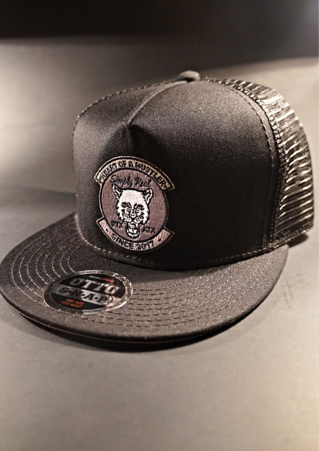 Black/Grey Beast Trucker Hat by