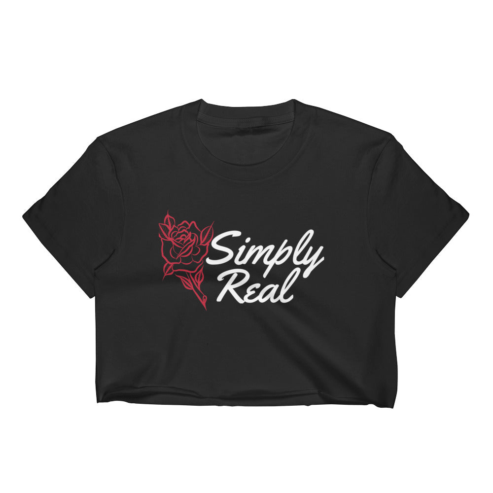 Women's SR Black Crop Top