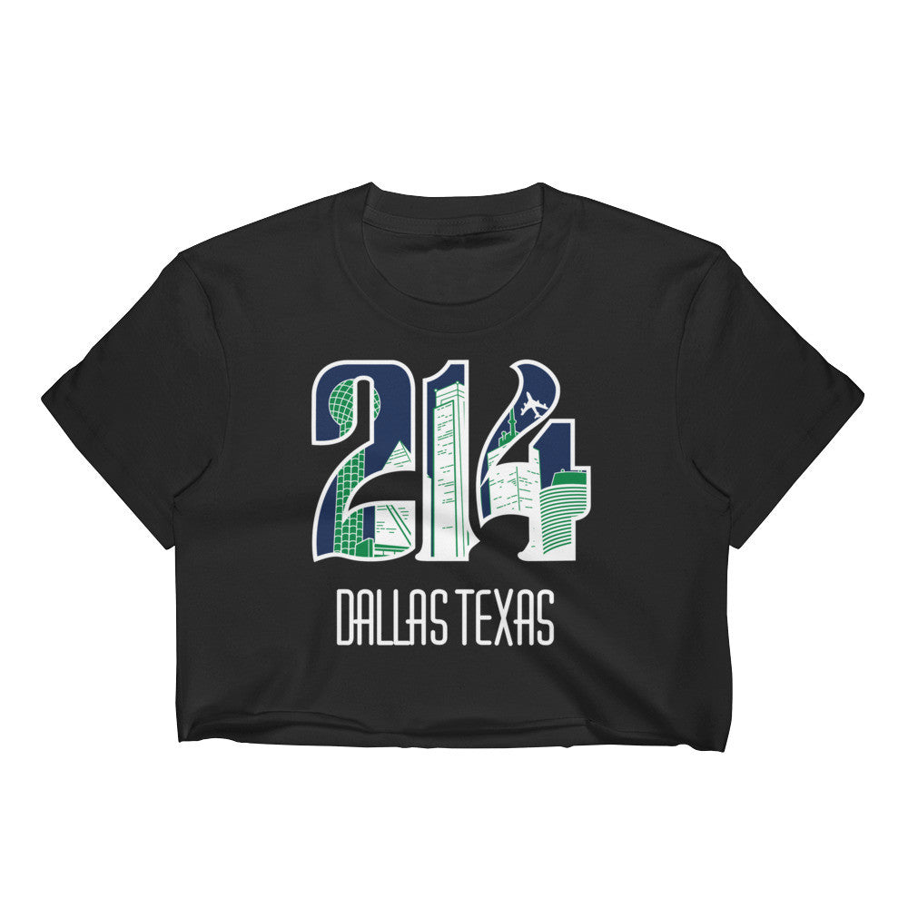 Women's 214 Mavs Theme Crop Top