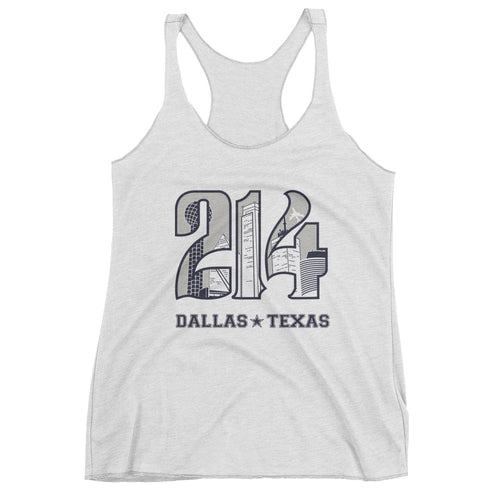 Women's 214 Cowboys Theme Racerback Tank