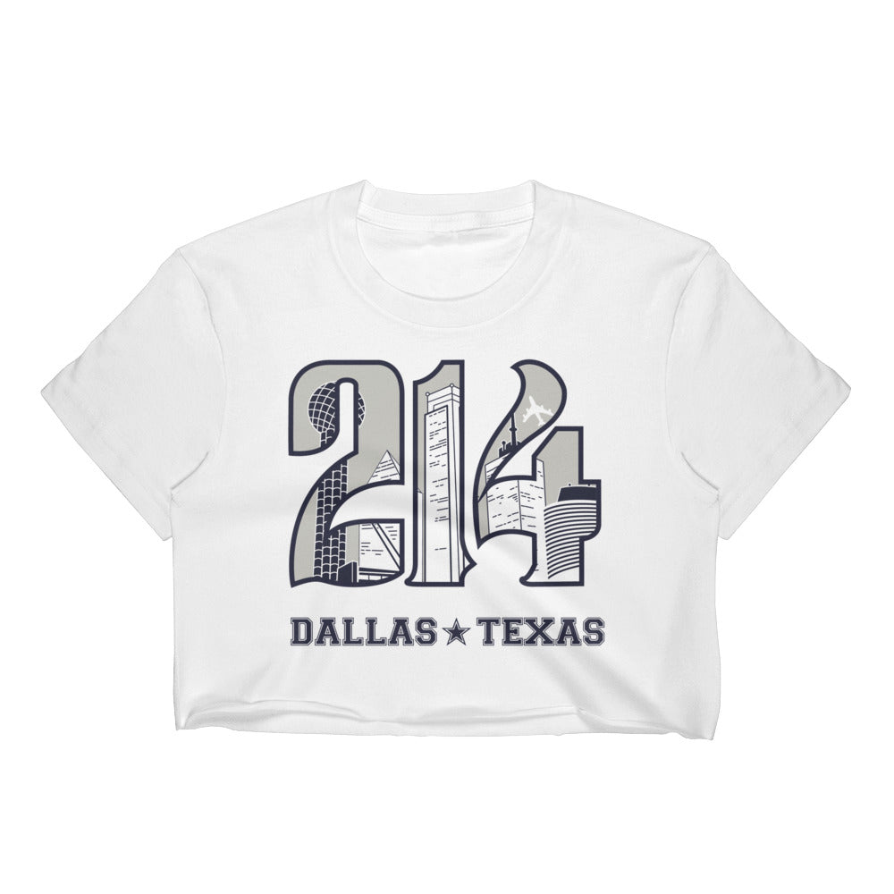 Women's 214 Cowboys Theme Crop Top