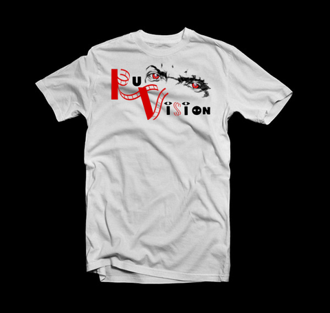 """Ru Vision"" T Shirt (White/Red/Black"