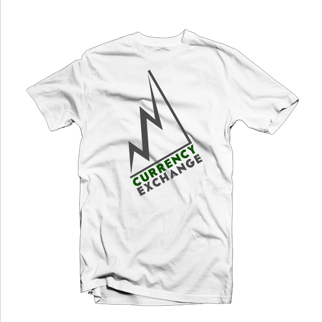 "Currency Exchange ""Stock Rise"" T Shirt (White/Gray/Green)"