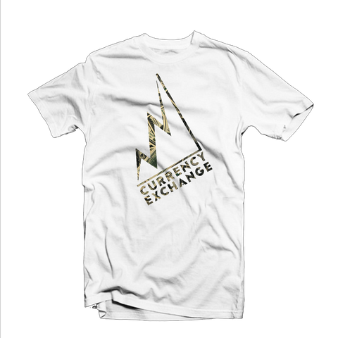 "Currency Exchange ""Stock Rise"" T Shirt (White/Money Design)"