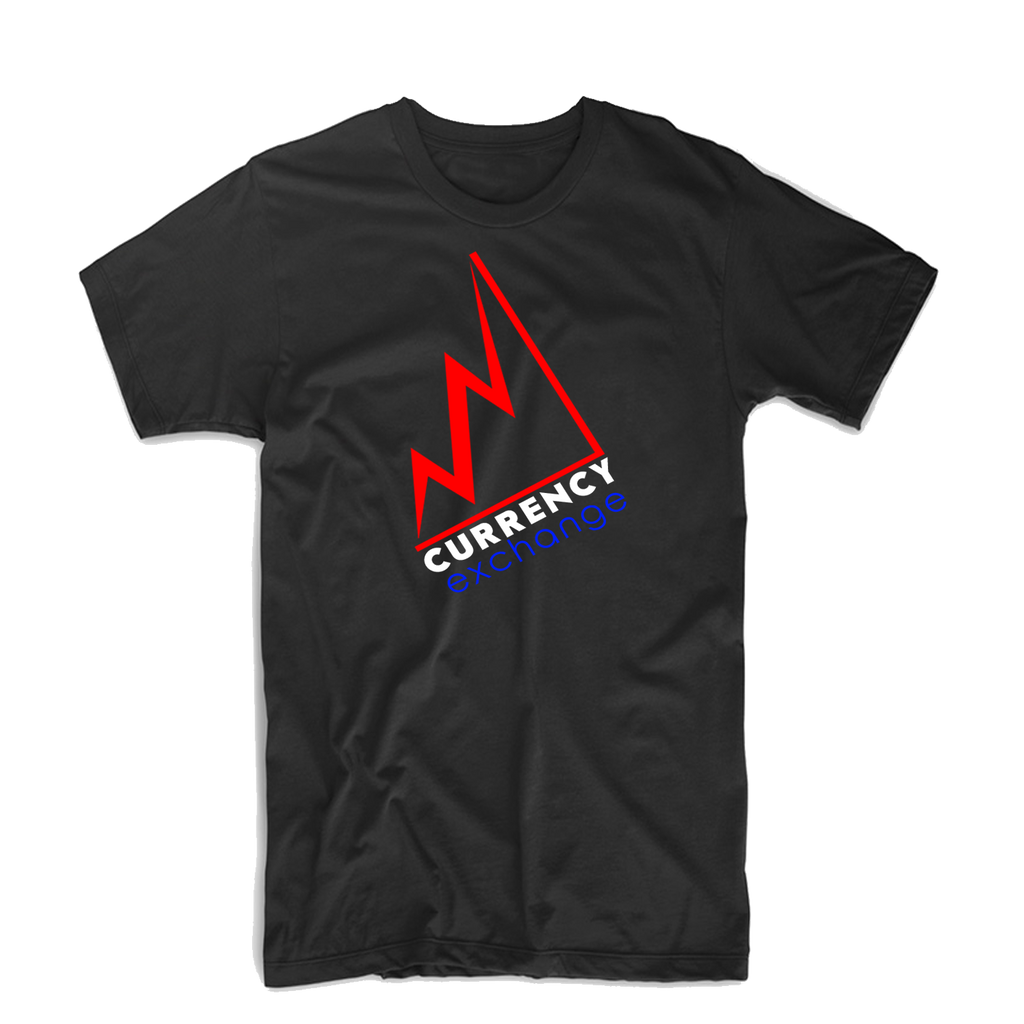 "Currency Exchange ""Stock Rise"" T Shirt (Black/Royal Blue/Red/White)"