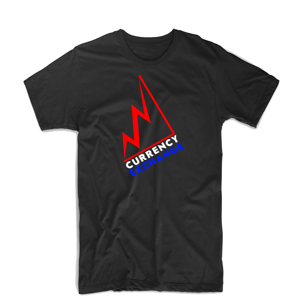 "Currency Exchange ""Stock Rise"" Bold T Shirt (Black/Royal Blue/Red/White)"