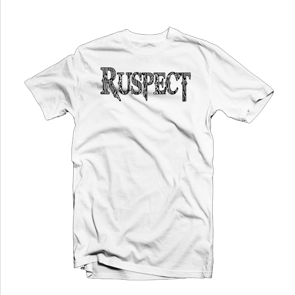 "Ruspect ""Original"" T Shirt (White/Snake Skin Black)"