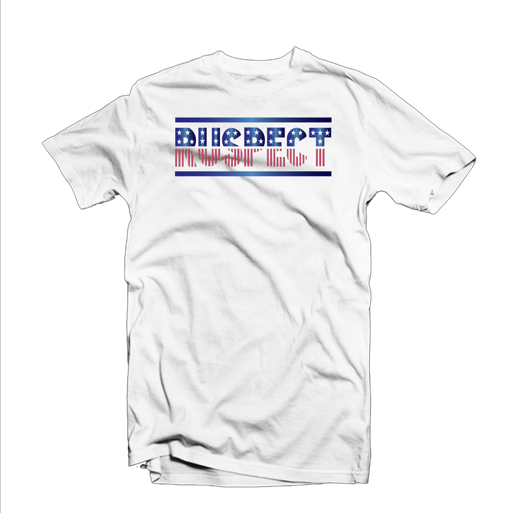 "Ruspect ""Starz"" T Shirt (White/Red/Blue)"