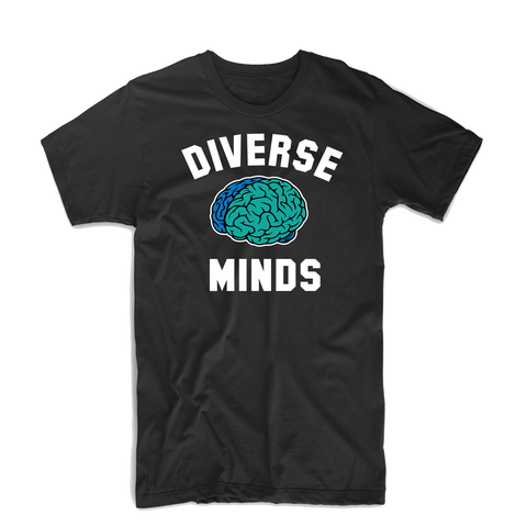 Diverse Minds Team T Shirt (Black/Blue/Turquoise)