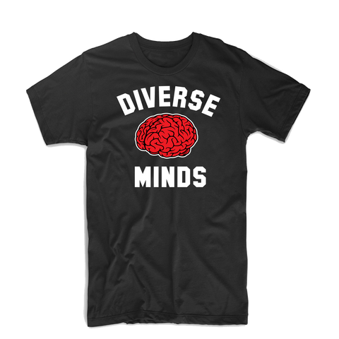 Diverse Minds Team T Shirt (Black/Red)