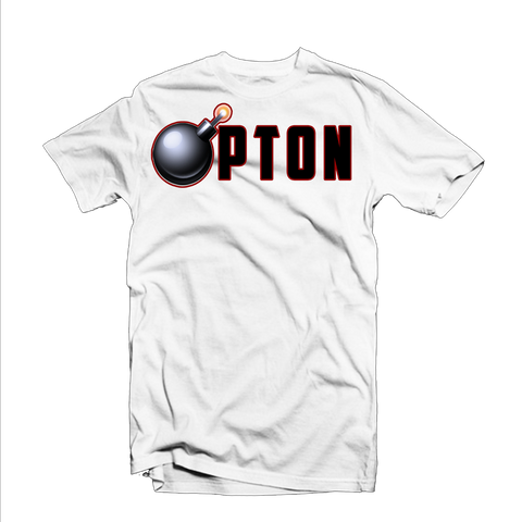 """Bompton Bomb"" T Shirt (White/Black/Red)"