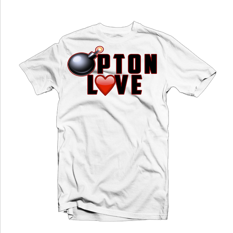 """Bompton Love"" T Shirt (White/Black/Red)"