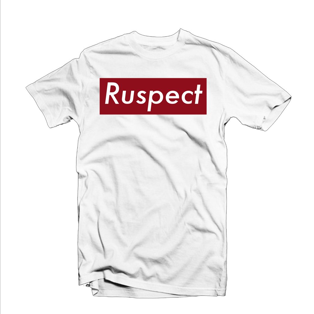 "Ruspect ""Ruspect Bar"" T Shirt (White/Red)"