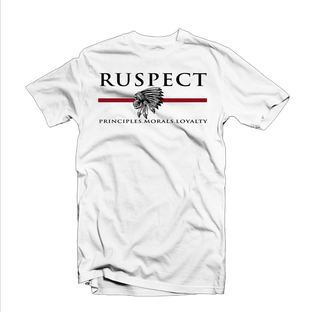 "Ruspect ""Chief"" T Shirt (White/Black/Red)"