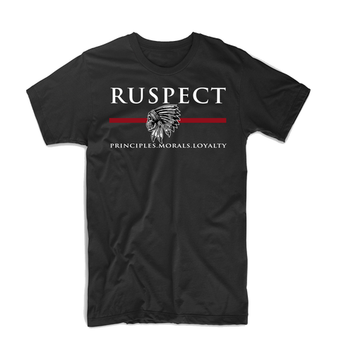 "Ruspect ""Chief"" T Shirt (Black/White/Red)"