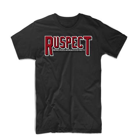 "Ruspect ""Ru Bold"" T Shirt (Black/White/Red)"