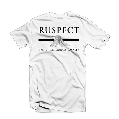 "Ruspect ""PML"" T Shirt (White/Black/Grey"