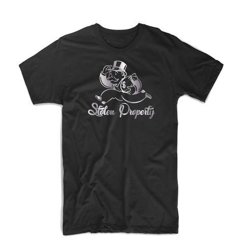 """Stolen Property"" T Shirt (Black/Light Gray/Dark Green)"