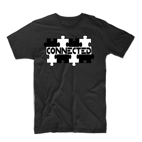 """Connected"" T Shirt (Black/White)"