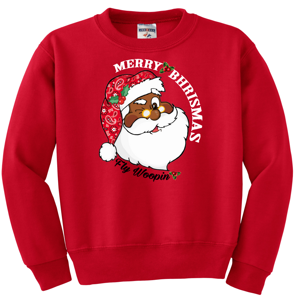 "Fly Woopin ""Merry Bhrismas""  Crew Neck Sweater"