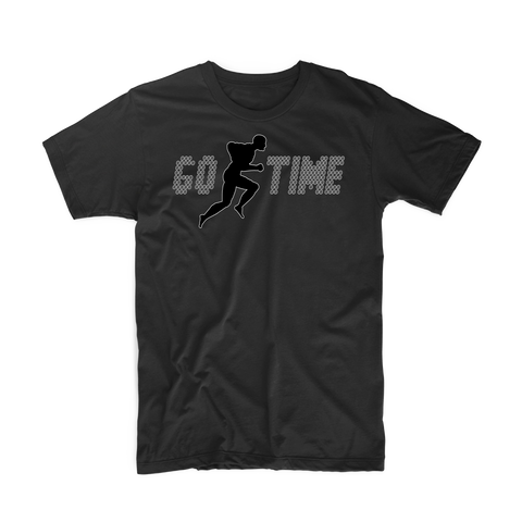 "Go Time ""Men's Workout"" T Shirt (Black/Black)"