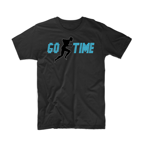 "Go Time ""Men's Workout"" T Shirt (Black/Blue)"