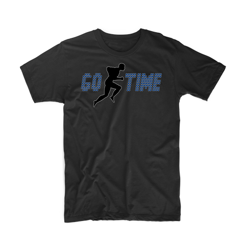 "Go Time ""Men's Workout"" T Shirt (Black/Dark Blue)"