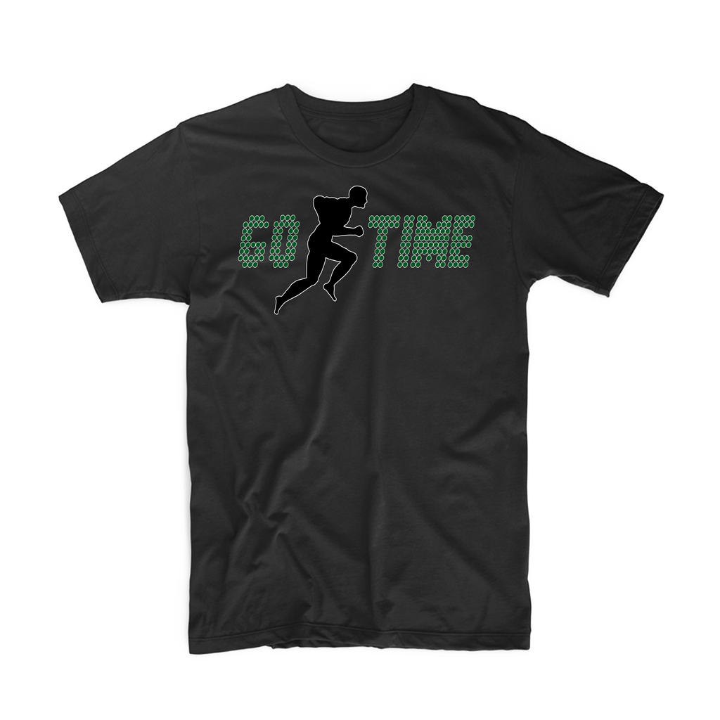 "Go Time ""Men's Workout"" T Shirt (Black/Green)"