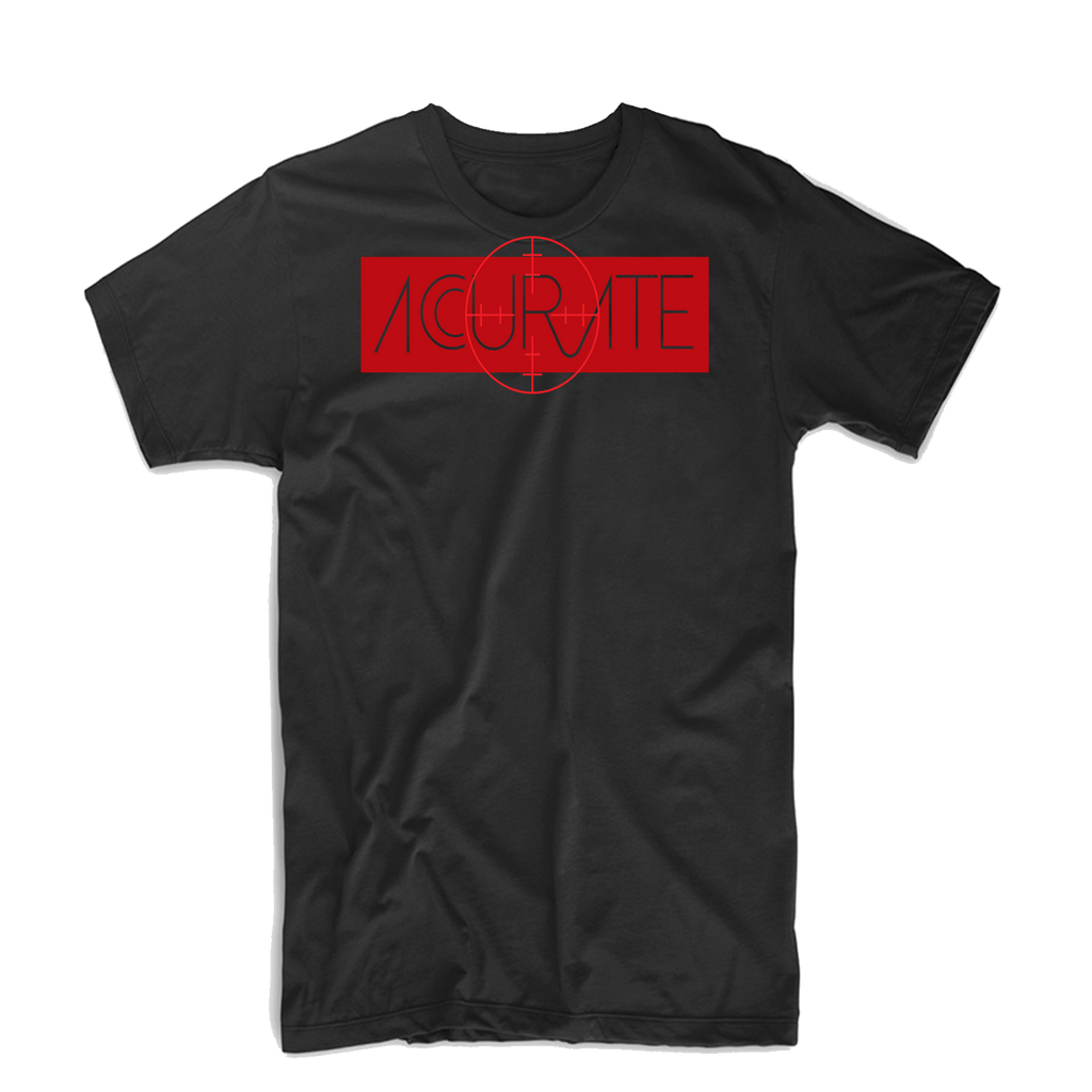 "Accurate ""Bullseye 2"" T Shirt (Red/Black)"