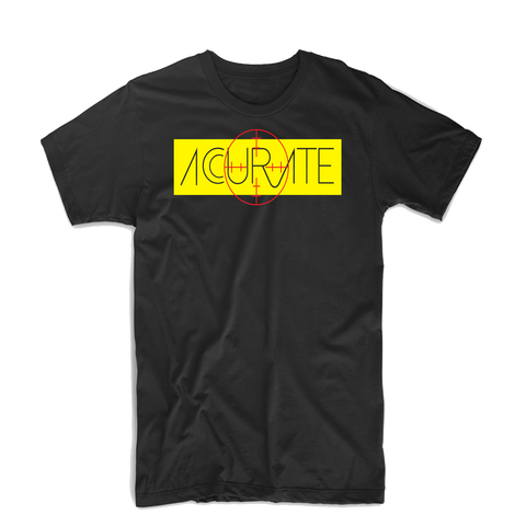 "Accurate ""Bullseye 2"" T Shirt (Black/Yellow/Red)"