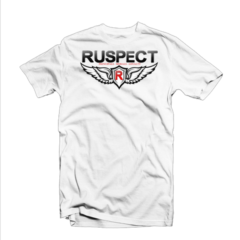 "Ruspect ""Birds Winged"" T Shirt (White/Black/Red)"