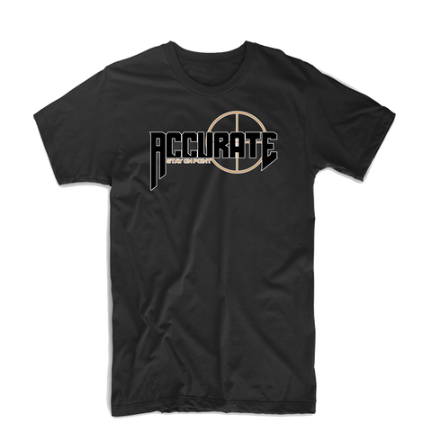 "Accurate ""Bullseye"" T Shirt (Black/Tan)"
