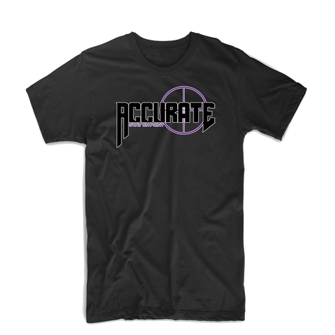 "Accurate ""Bullseye"" T Shirt (Black/Purple)"