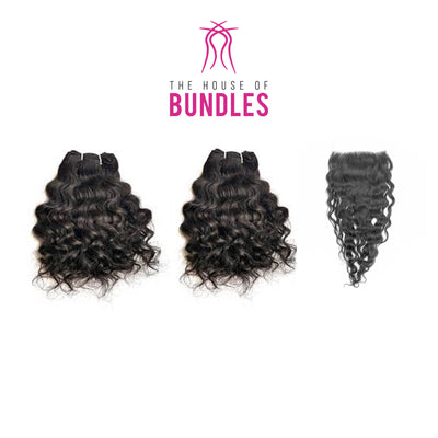 2 Raw Curly Bundles & Closure