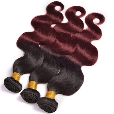 3 Bundles Color 1B/99J Ombre (Any Texture)