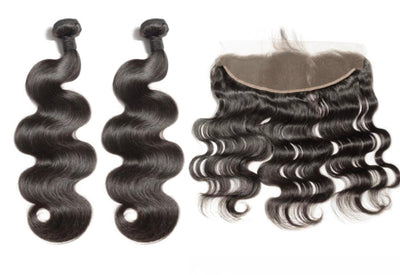 2 Bodywave Bundles & Frontal ( Industry Standard Collection)