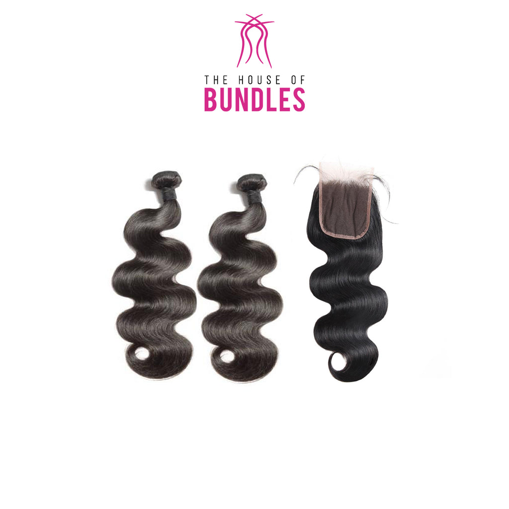 Bodywave Hair 2 Bundles & Standard Lace Closure ( Supreme Goddess Collection )