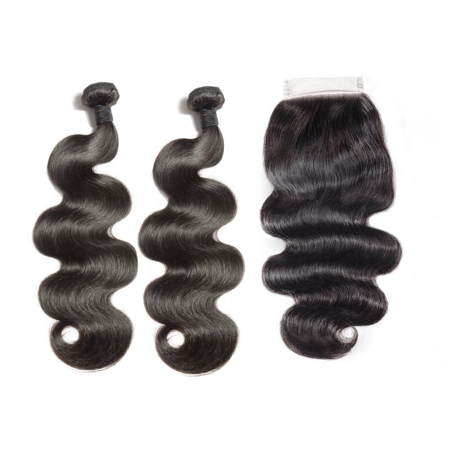 Bodywave Hair 2 Bundles & HD Closure ( Supreme Goddess Collection )