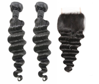 2 Loose Deepwave Bundles & Closure ( Industry Standard Collection)