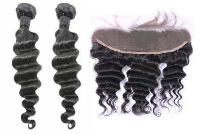 2 Loose Deepwave Bundles & Frontal ( Industry Standard Collection)