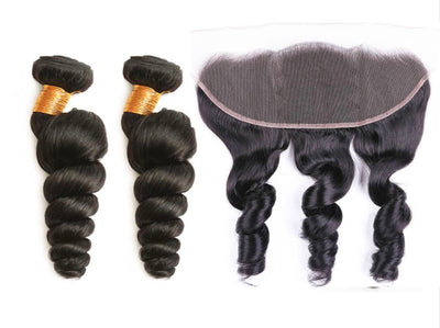 2 Loosewave Bundles & Frontal ( I Am A Queen)