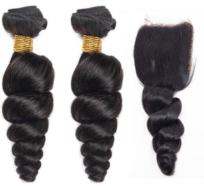 2 Loosewave Bundles & Closure ( I Am A Queen Collection)