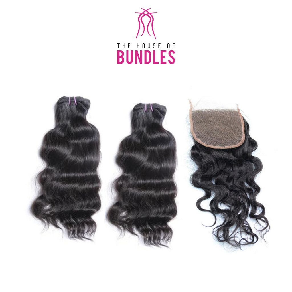 Bodywave Hair 2 Bundles & Standard Lace Closure ( R.A.W. Collection )